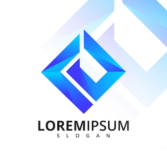 Geometric letter e logo