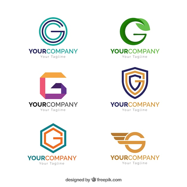 Geometric Letter G Logo Collection