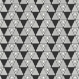 Geometric line seamless pattern with triangle.