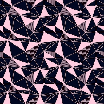 Geometric line seamless pattern