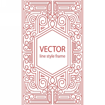 Geometric linear style frame - art deco border for text sketchbook cover design