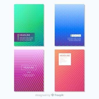 Geometric lines brochure pack