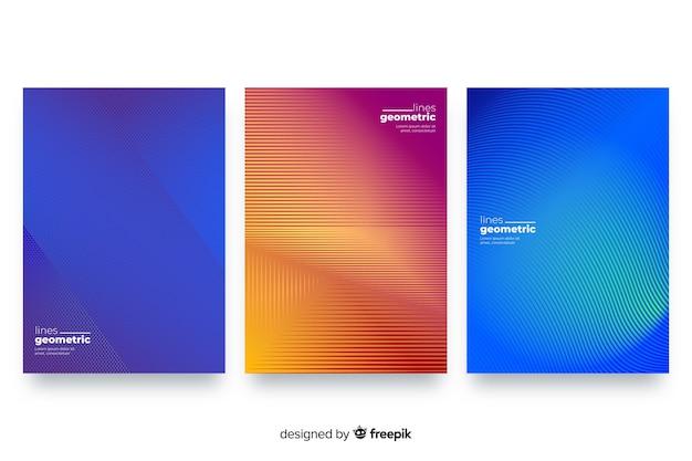 Geometric lines brochure set