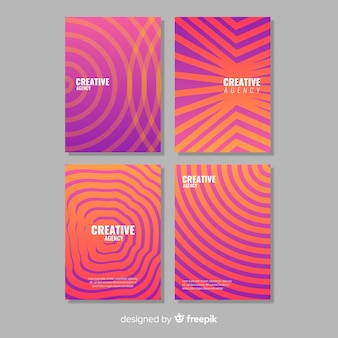 Geometric lines brochure set
