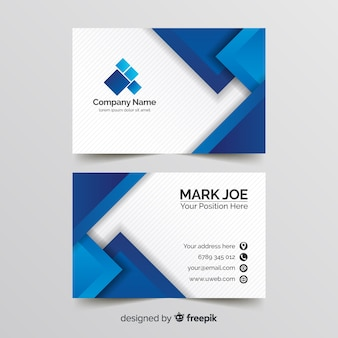 Geometric lines business card template