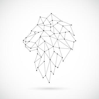 Geometric lion silhouette