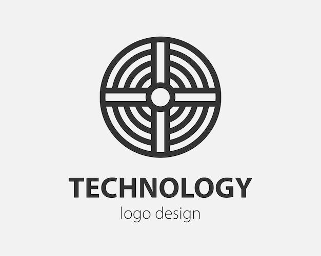 Geometric logo in a circle