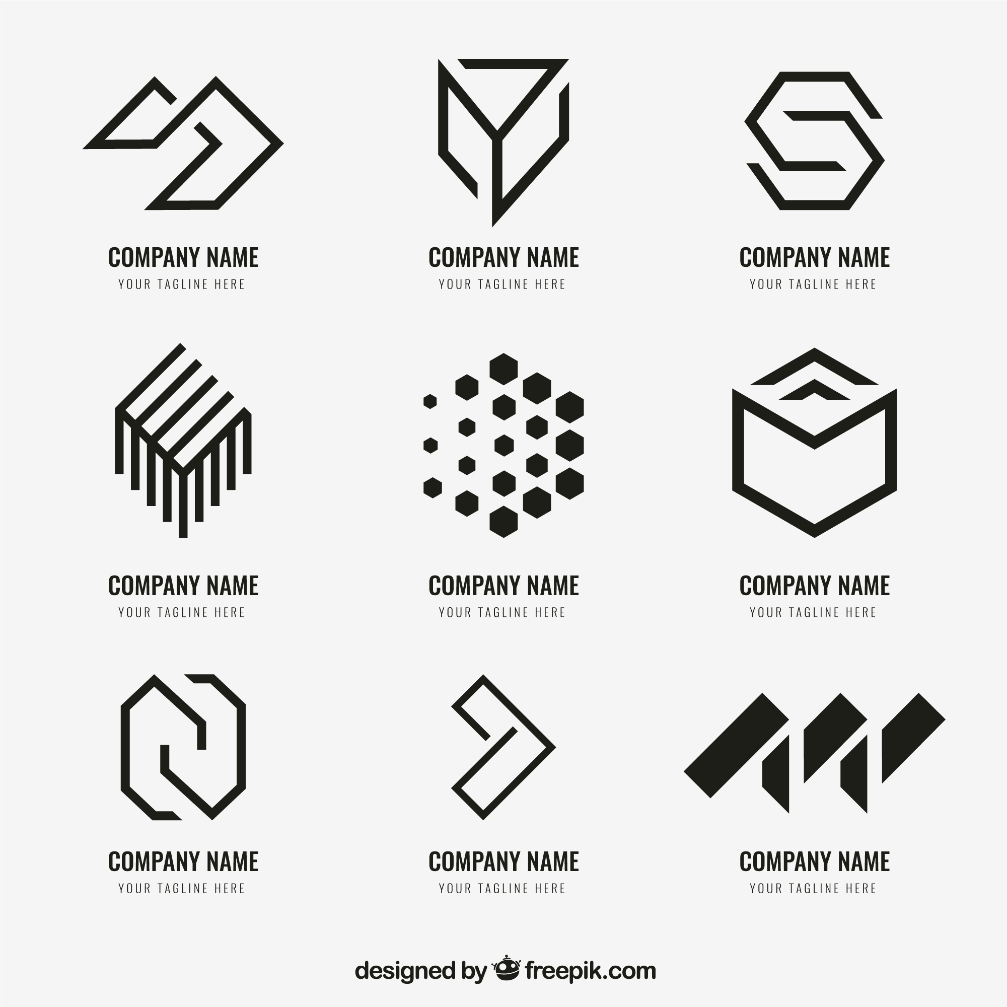 Geometric logo collection