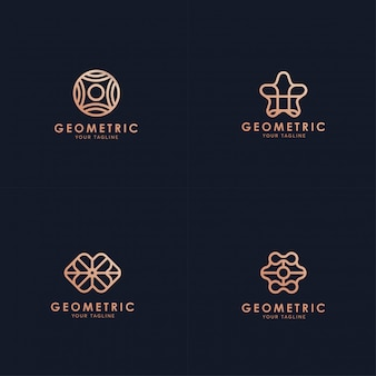 Geometric logo collection.