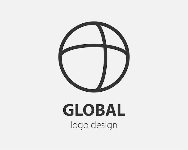 Геометрический логотип в круге