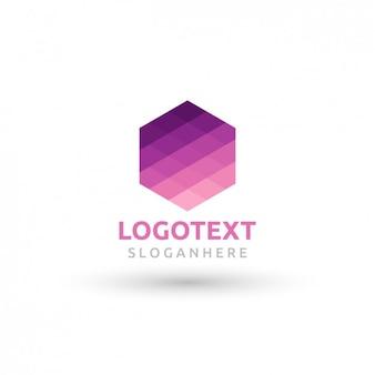 Геометрическая логотип в форме шестиугольника