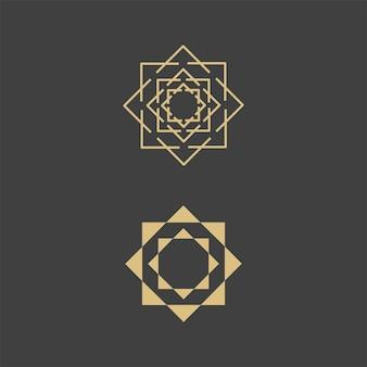 Geometric logo template. vector circular arabic ornamental symbols