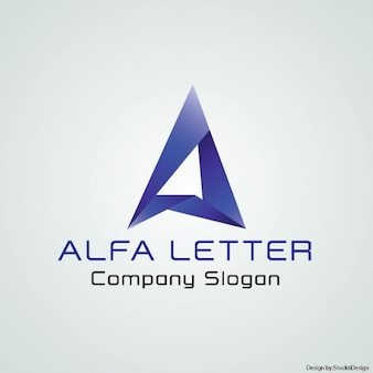 Geometric logo with the letter a