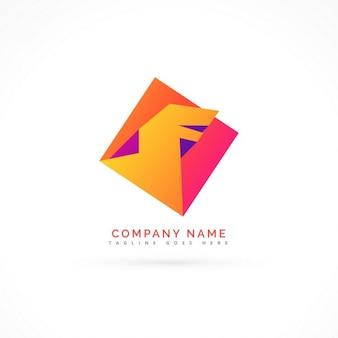 Astratto colorful concetto drago logo