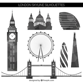 Geometric london silhouettes