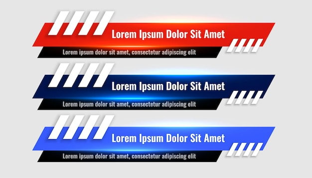 Geometric lower third banners template