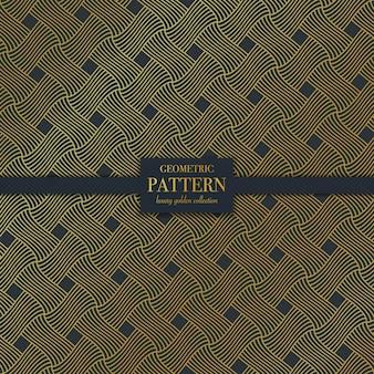 Geometric luxury dark golden line pattern