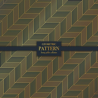 Роскошный темно-золотой геометрический узор линии размахивая