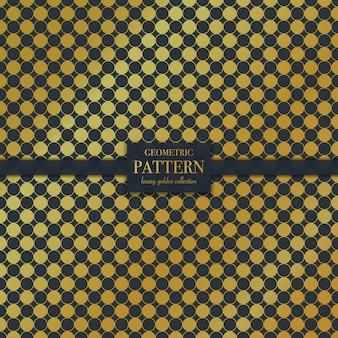 Geometric luxury golden circle dots texture pattern