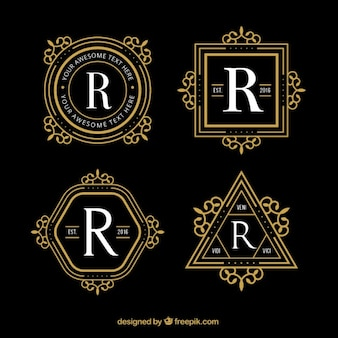 Geometric luxury logos