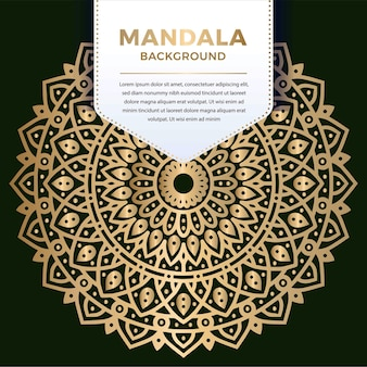 Geometric luxury ornamental mandala pattern design in gold color   illustration