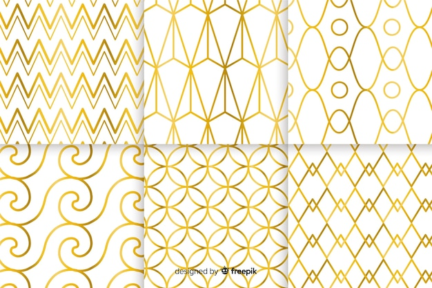 Geometric luxury pattern collection concept