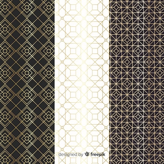 Geometric luxury pattern collection design