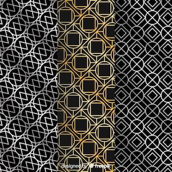 Geometric luxury pattern collection wallpaper