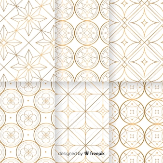 Geometric luxury pattern collection