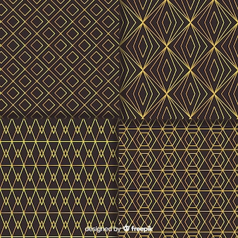 Geometric luxury pattern pack