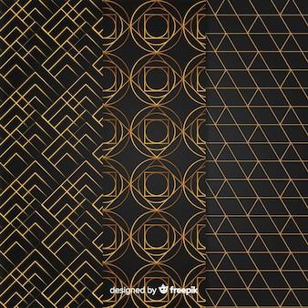 Geometric luxury pattern set