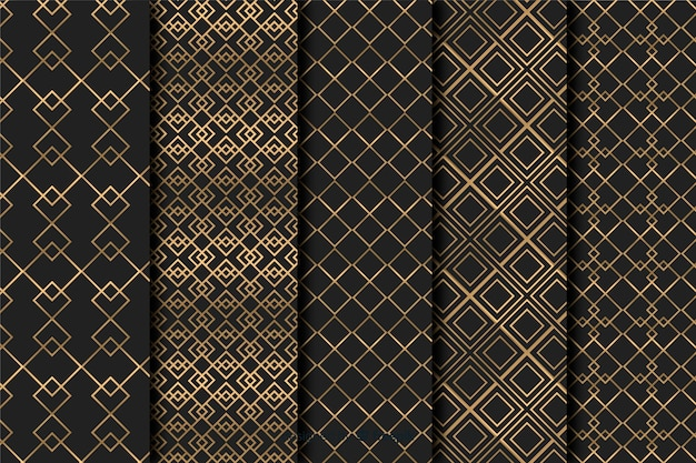 Geometric luxury pattern set