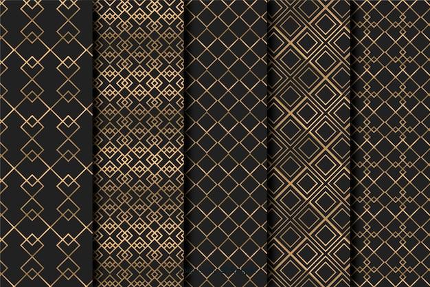 기하학적 인 럭셔리 패턴 세트