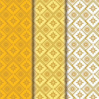 Geometric luxury seamless pattern collection