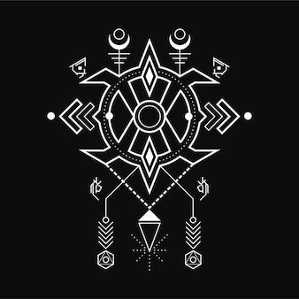 Geometric magic rune