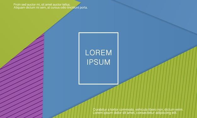 Геометрический дизайн материала фон. минималистичный абстрактный дизайн обложки. креативные красочные обои. модный градиентный плакат. векторная иллюстрация.