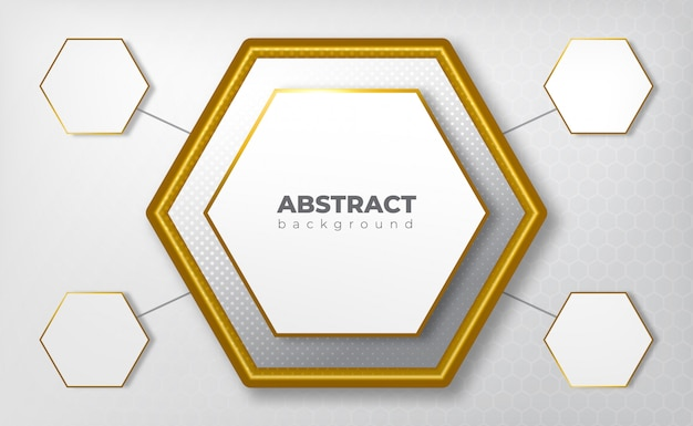 Geometric medical concept gray background with gold line