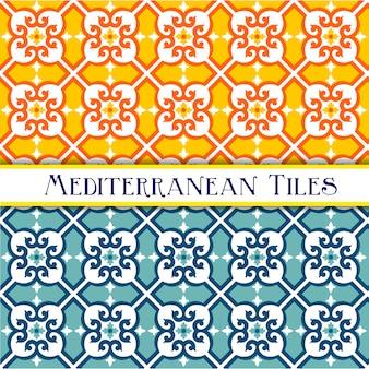 幾何学的な地中海パターン