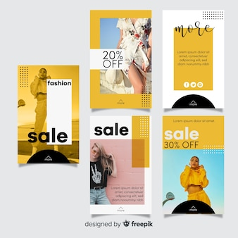 Geometric memphis  instagram  stories template
