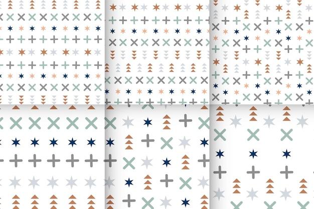 幾何学的なメンフィスのシームレスなパターンメンフィスの幾何学的なパターンシームレスな抽象的な迷路パターン