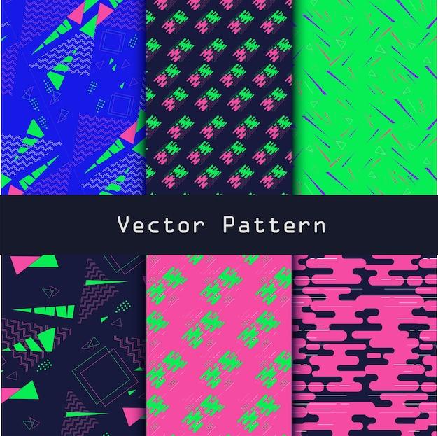 幾何学的なメンフィススタイル。流行に敏感なファッションデザインパターン