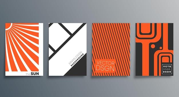 Геометрический минималистичный дизайн для флаера, плаката, обложки брошюры, фона, обоев, типографии или другой полиграфической продукции. векторная иллюстрация.