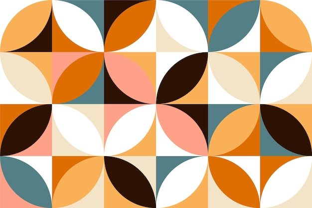 Geometric minimal mural wallpaper style