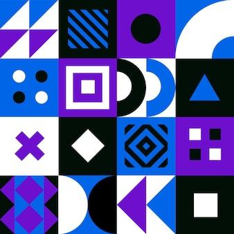 기하학적 최소한의 패턴입니다. 추상적인 벡터 기하학적 배경입니다.