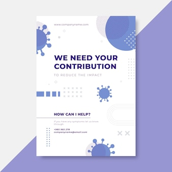 Geometric minimalist coronavirus poster