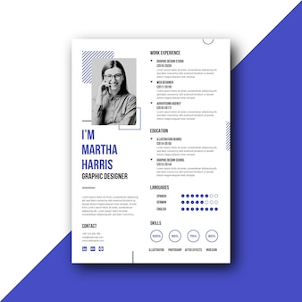 Geometric minimalist design resume template