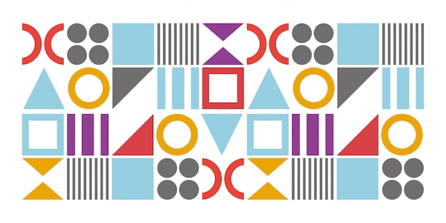 Geometric minimalist tiles with simple shape and figure. abstract design of seamless pattern