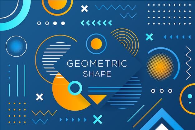 Geometric models background in flat design