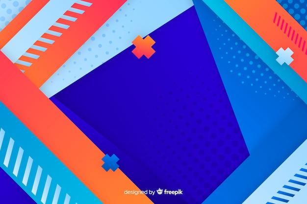 Geometric models gradient background