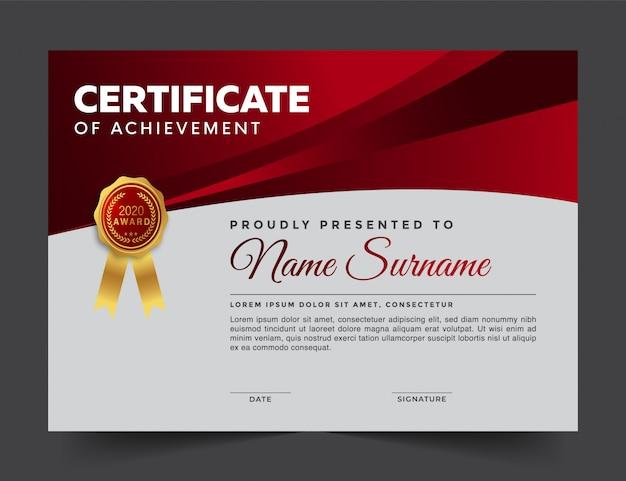 Geometric modern certificate of achievement template